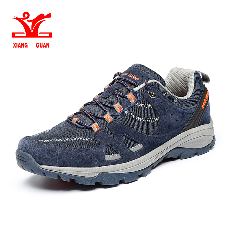 Xiang Guan Mens Hiking Shoes Warm High Cut Boots Outdoor Sneakers Low Cut Sport Shoes Men Walking Breathable Camping Footwear peak sport men outdoor bas basketball shoes medium cut breathable comfortable revolve tech sneakers athletic training boots