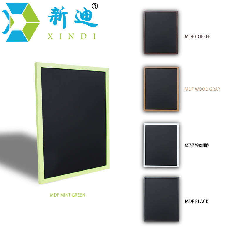 XINDI 2017 New 5 Colors MDF Frame Magnetic Wooden Blackboard 30*40cm Home Decorative Message Chalk Board For Notes