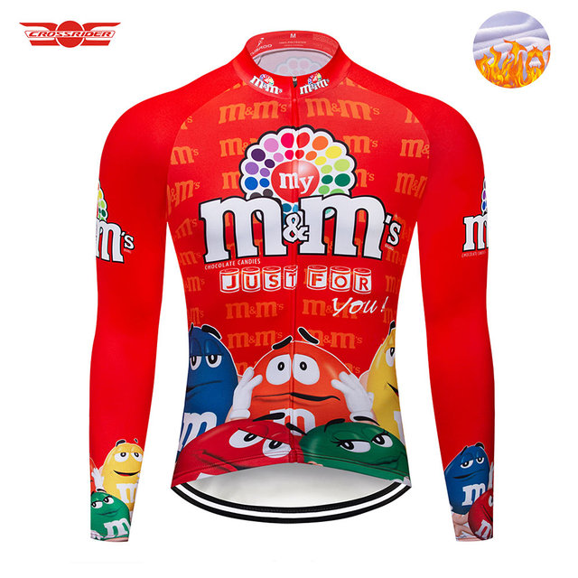 Crossrider Pro Team Winter Funny Cycling Jersey Long Cycling Clothing Men  Thermal Fleece MTB Bike Jersey Ropa Ciclismo Invierno 8321ef47c