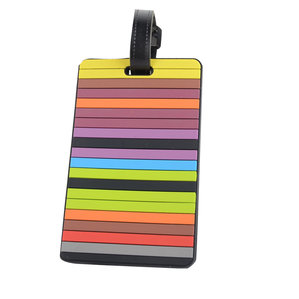 Travel Accessories Luggage Tag Suitcase Luggage Tags ID Address Holder Silicone Identifier Boarding Tags Portable Label A0630