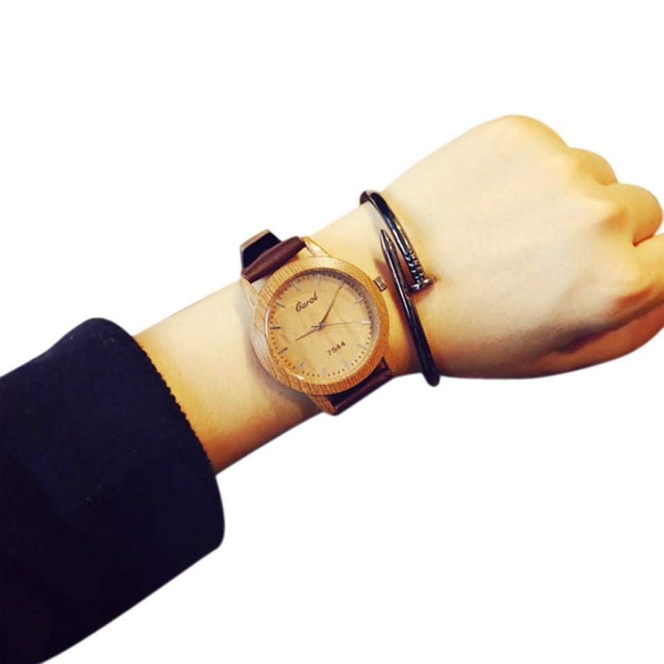Women's Watches Female Students 2019 Vintage Wooden Minimalist Fashion Lovers Quartz Watch For Women Clock Relogio Feminino A1