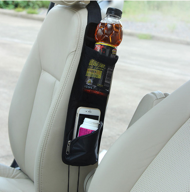Accessories Car Seat Side Storage Net Organizer Phone Cup Drink Bottle Holder Mesh Pouch String Bag