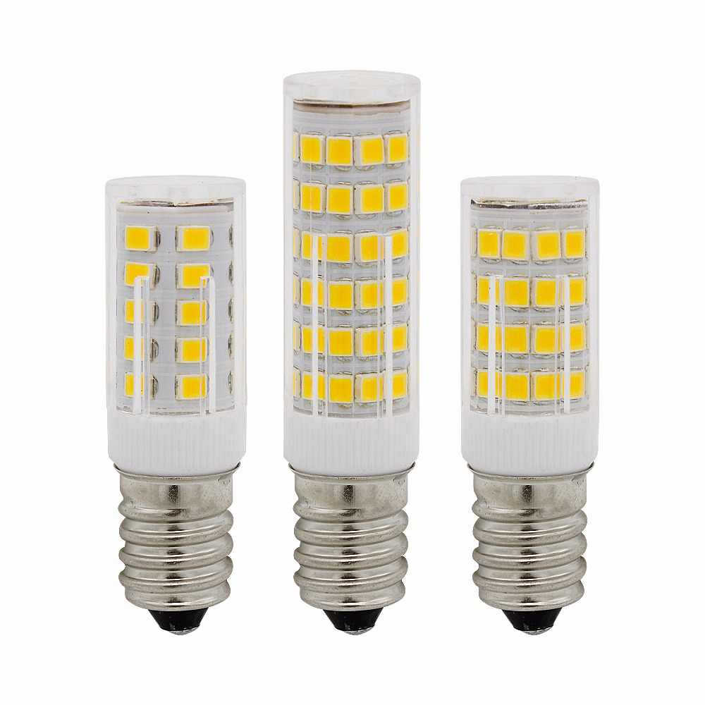 E14 LED Light Bulb 3W 4W 5W 220V 230V SMD Ceramic Lamp replace 30w 40w 50w Halogen for Candle Crystal Chandelier refrigerator