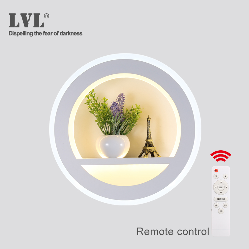 LED Wall Lamp remote control decoration home modern simple style AC220V atmosphere indoor wall light