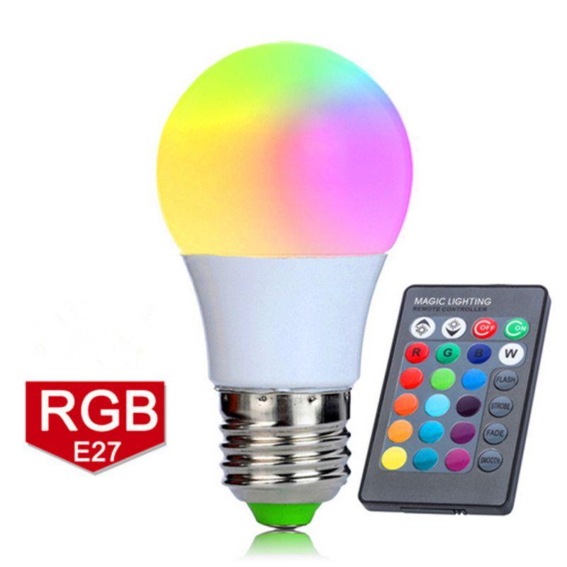 font b LED b font font b Bulb b font 16 Colors RGB Light font