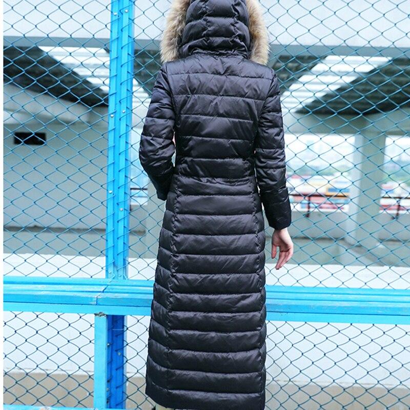 Capuchon Designs Hiver Motif Black Au X Q213 À Chaud Femme Bas Automne Col long Fourrure Vers Mode Garder Veste De Parkas Le Épais Lady Patch Lettre vUR4dq