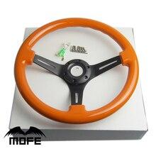 MOFE 14 «/350 ММ Deep Dish Тюнинг Классический Цвет Деревянный Руль для рулевого колеса Автомобиля quick релиз