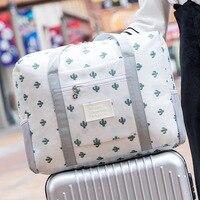 防水大容量旅行バッグ荷物トロリーケース女性折りたたみナイロンハンドバッグユニセックスビッグサイズ機内持ち込み