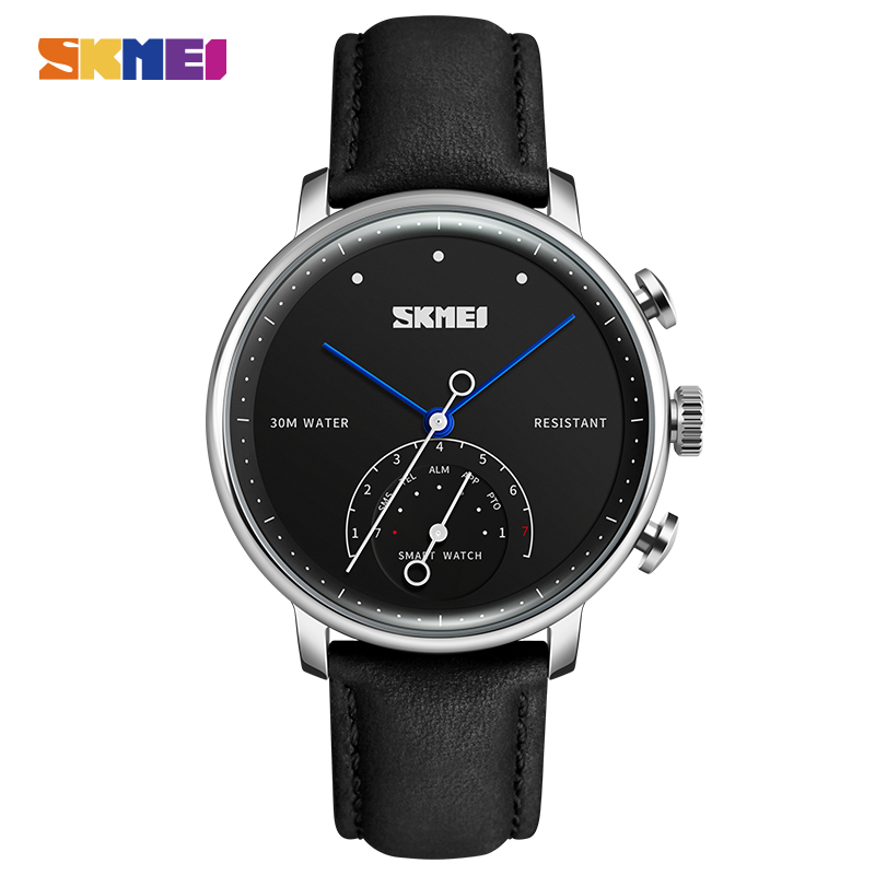SKMEI Smart Quartz Women Watch Luxury Brand Men Clock Auto-Time Call Message Reminder Wristwatches Pedometer Sports Watches XFCS hot sale skmei brand men women fashion waterproof sports watches led display message call reminder fitness digital smart watch