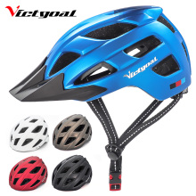 цена на VICTGOAL Bike Helmet with Visor Light Cycling Helmet for Men Women Safety Bicycle Helmet MTB Mountain Road Bike Helmets Adults