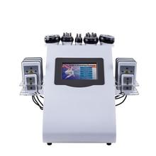 Новое поступление 2019 года! 6 в 1 40 K ультразвуковая кавитация вакуум радиочастотный лазер 8 колодки lipo лазерная машина для похудения для домашнего использования