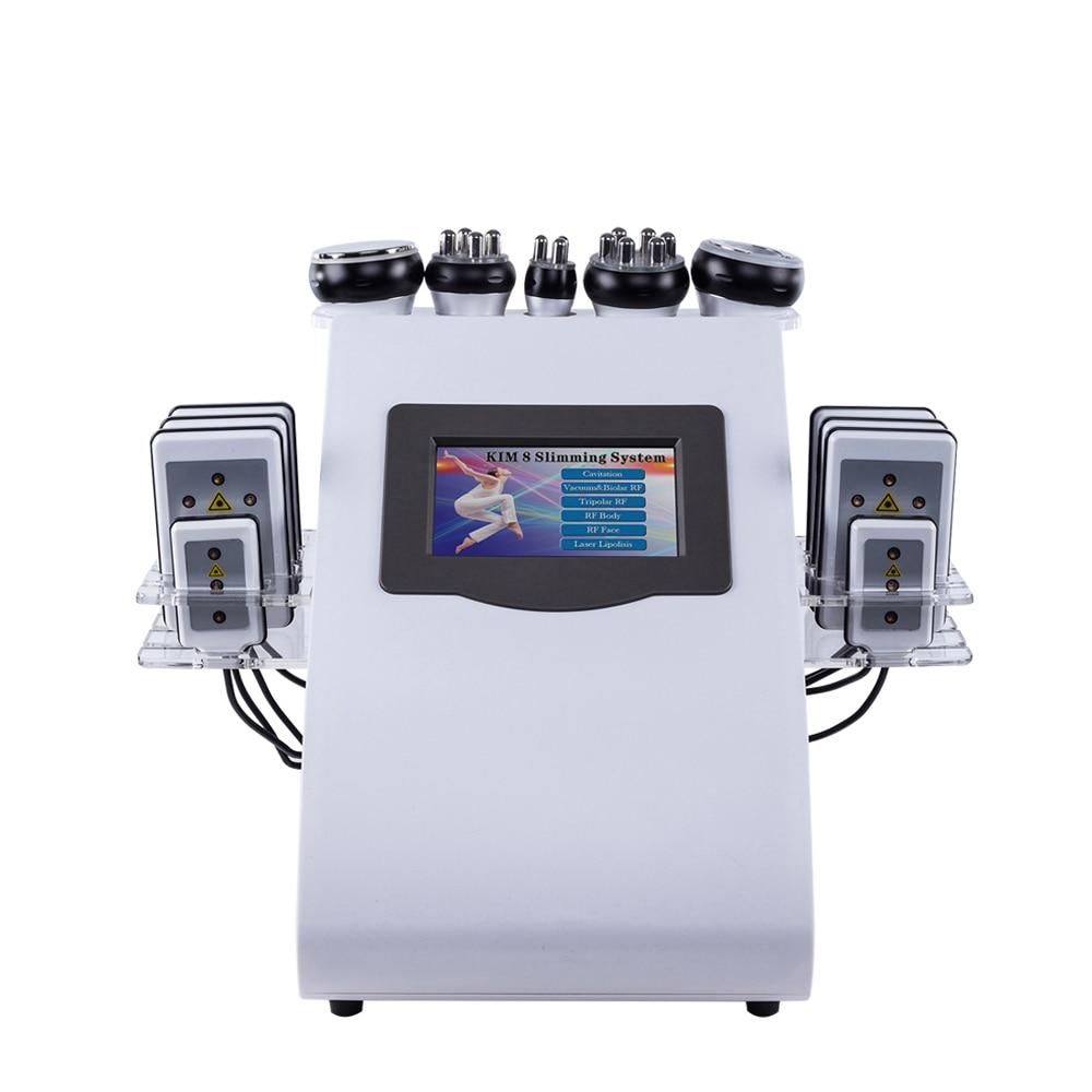 2019 Nuovo Arrivo! 6 In 1 40 K Ultrasuoni Cavitazione Vuoto Radio Frequenza del Laser 8 Pastiglie lipo Laser Dimagrante Macchina per uso domestico