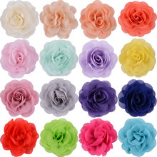 1PC /2PCS Soft Chiffon Rose Flower Hairpin Fabric Print Hair Flowers Clips Girls Newborn Headband Wedding Party Hair Accessories(China)