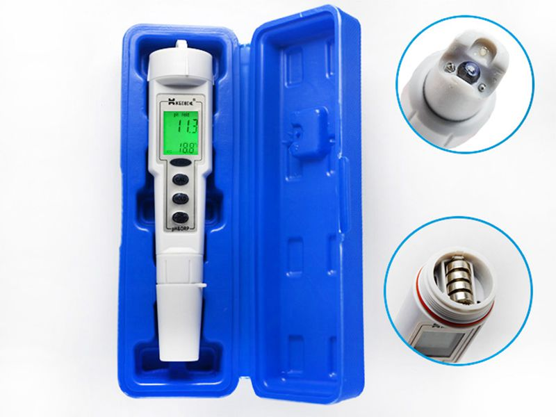 Portable Digital Waterproof PH&ORP Meter 0.0-14.0pH Ph Tester 500mV Oxidation-Reduction Potential Automatic Calibration automatic calibration digital waterproof orp meter portable pen tester redox meter lcd backlight display