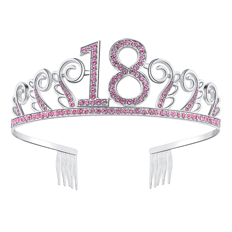 1PC Bride <font><b>Crown</b></font> Popular Rhinestones High-Grade <font><b>Crown</b></font> Headdress Wedding Accessories Tiara <font><b>18th</b></font>/20th <font><b>Birthday</b></font> <font><b>Crown</b></font> Party Favor image