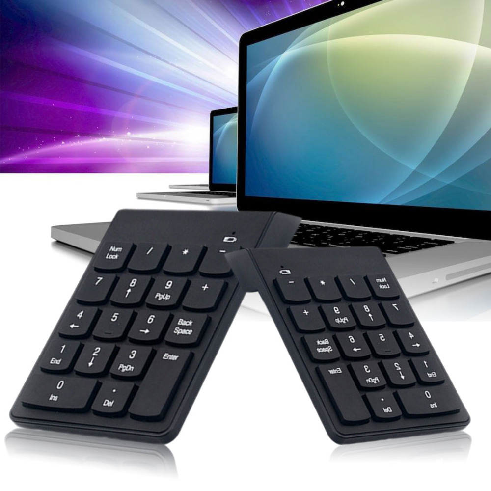 NOYOKERE Mini Numeric Keypad 18Keys Digital Keypad 2.4G USB Wireless Number Keyboard For Desktop Notebook Compatible
