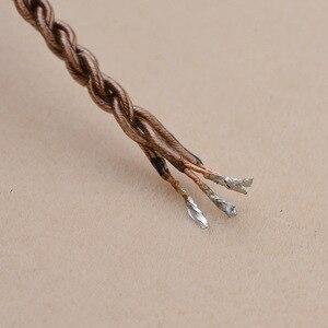 Кабель для наушников Сделай Сам 3,5 мм 6N UE18 ядро один кристалл медный кабель пряди аудио наушники техническое обслуживание провода для гарнитуры