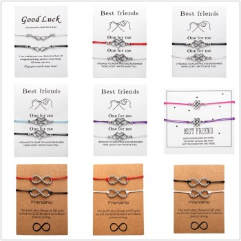 Couples Bracelet Card | Best Friend Rope Chain Bracelets 2pcs/set