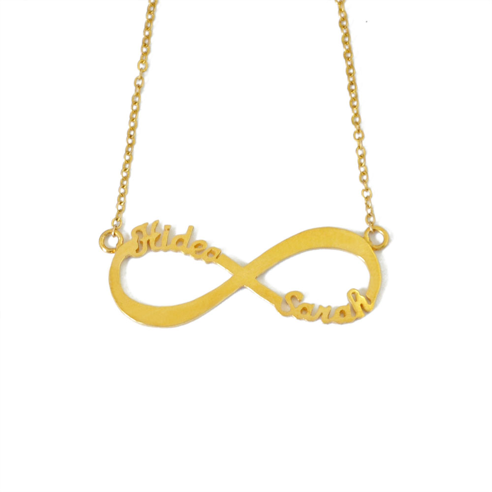 necklace with listing names au il gold infinity custom