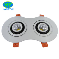High quality Dimmable double Led Downlights 7W*2 9W*2 220V 110V driverless hotel Ceiling Lamp Home Indoor Lighting|double led downlight|led downlight|indoor lighting -