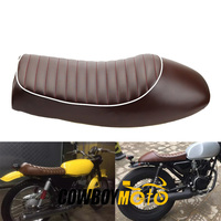Coffee Motorcycle Cafe Racer Seat Custom Vintage Hump Saddle Flat pan Retro Seat For Honda CB125S CB200 CB350 CL350 CB400