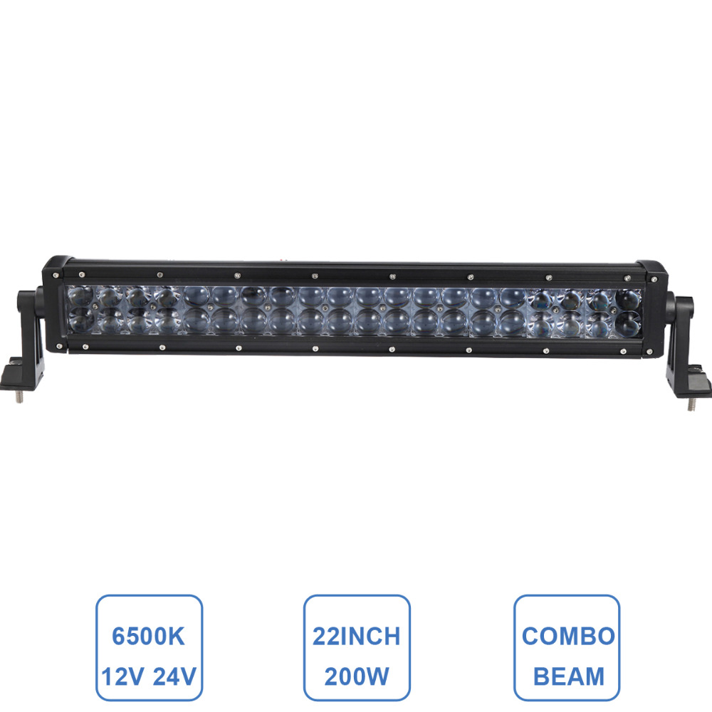 22'' 200W Offroad LED Light Bar Combo Driving Headlight Car Auto SUV Boat Trailer Truck Tractor Wagon 4x4 Boat ATV Lamp 12V 24V 32 300w curved led bar combo offroad driving light atv suv 4x4 truck trailer camper tractor pickup wagon utv 4wd off road lamp