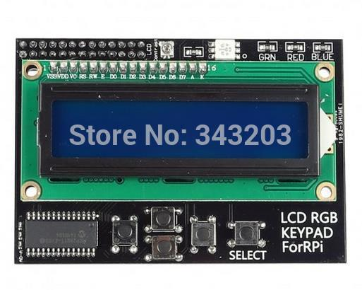 I2C IIC Interface RGB LED Screen Raspberry Pi 1602 LCD + Keypad RGB for Raspberry Pi module 16X2 expansion board
