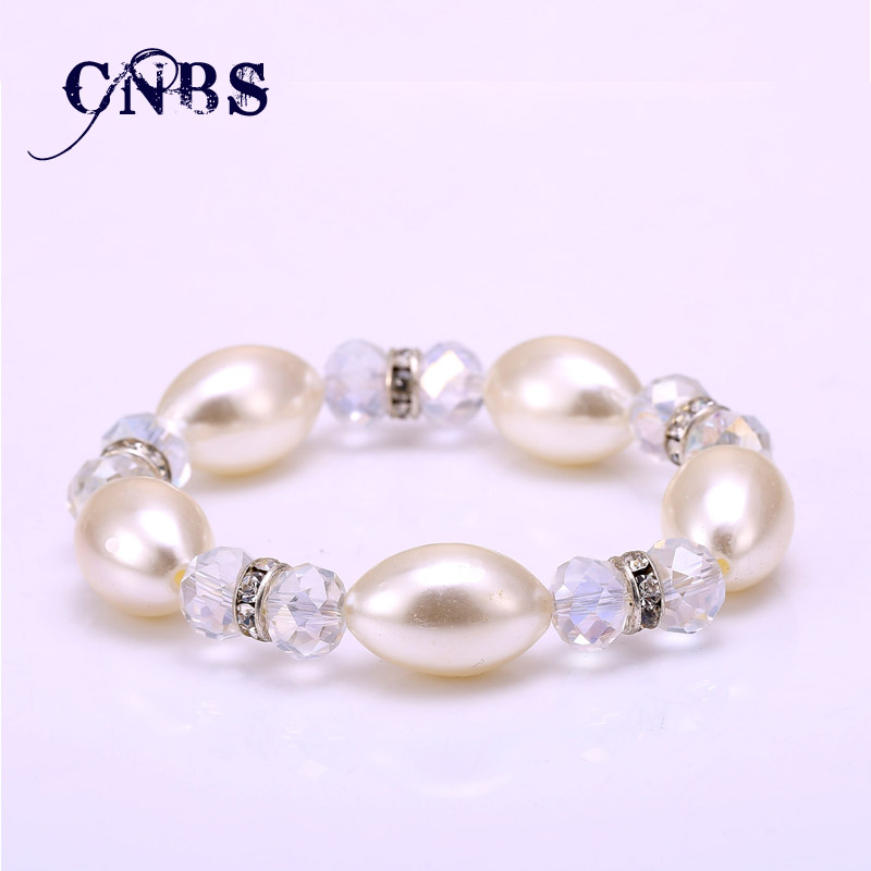 Perfectly Simulated Pearl Charm Bracelets With Crystal For Women Vintage Beads Best Friend Jewelry gift Pulseiras bb10187