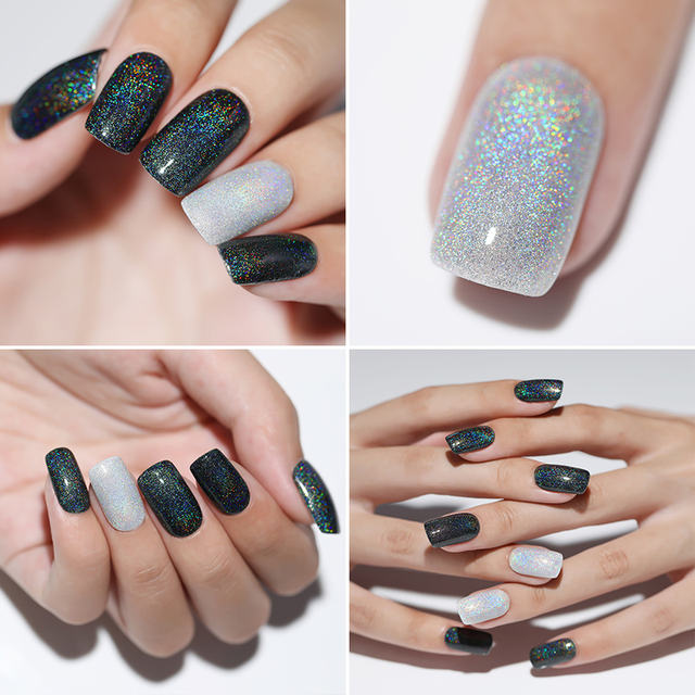 LILYCUTE Neon Gel For Nail Polish Holographic Set 5ML