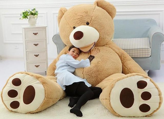 2016 new arrival oversized teddy bear stuffed light brown giant