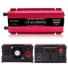 Inverter 12v 220v 2000W Voltage Transformer Car Converter 12 to 220 Solar Inversor Auto Power Charger Adapter Display