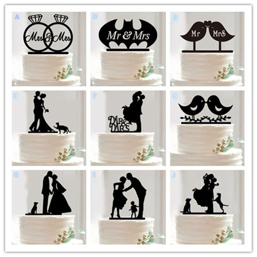 10 Style Optional Acrylic Wedding Cake Topper Stand