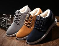 Ankle Boots For Men Boots Waterproof 2017 Short Plush Warm Shoes Cheap Flat With Snow Boots