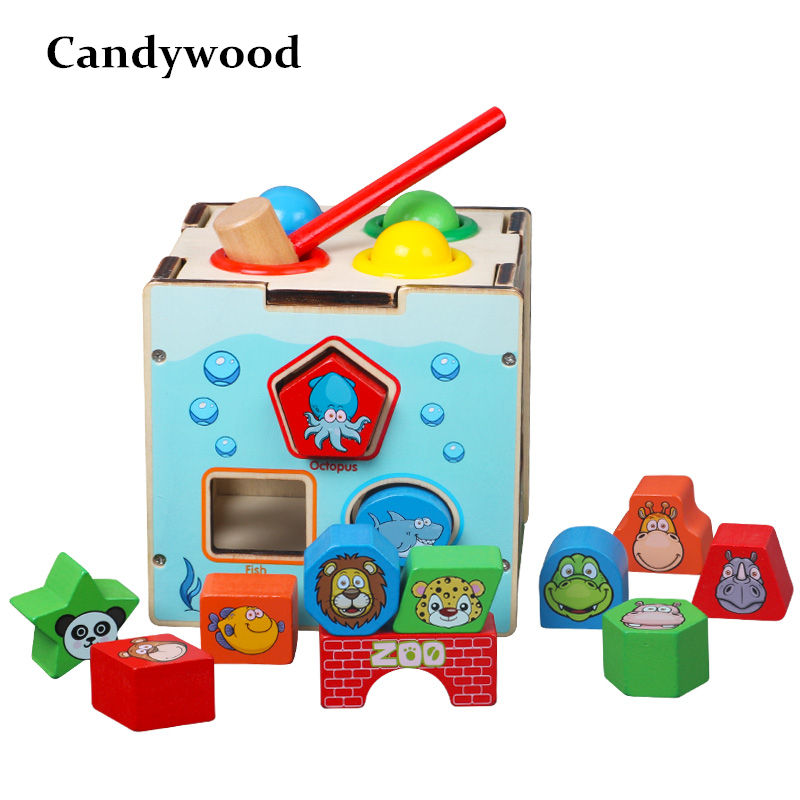 Candywood New Kids Toys Multi-function Intelligence Box Montessori Educational Wooden Toys For Children Montesori Educativo