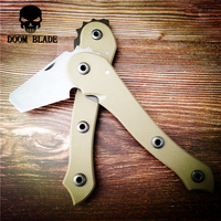 203mm 100% D2 Blade Ax Multifunction Mini Folding Knife Camping Survival Tactical Axe Tomahawk G10 Hand LeIce Axe Outdoor