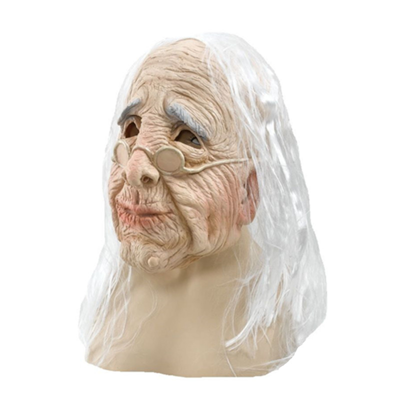 US $17 73 |Celebrity Female Face Old Women latex Fancy Dress Costume rubber  old lady mask-in Party Masks from Home & Garden on Aliexpress com |