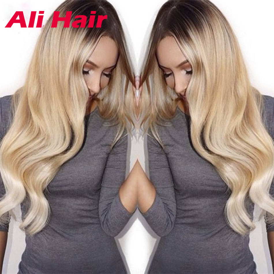 #613 Ombre Malaysian Hair Extensions Body Wave blonde virgin hair 100% Human Hair Weave blonde Malaysian hair 613 blond on sale