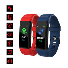Smart Bracelet ID115 Plus SmartBand Fitness Blood Pressure Heart Rate Monitor Sleep Tracker Pedometer Smartwatch for IOS Android цена