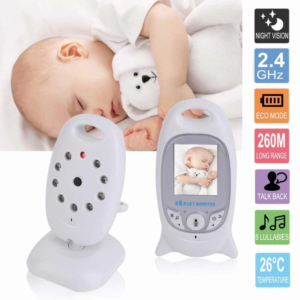 IR LED Wireless Infant Baby Monitor 2 Inch High Resolution Color Video Security Camera Nigh Vision Temperature Monitoring Device