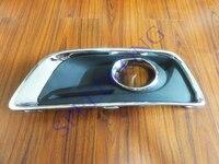 1 PC LH With Chromed Frame Bumper Fog Light Cover For Chevrolet Malibu 2013 2015