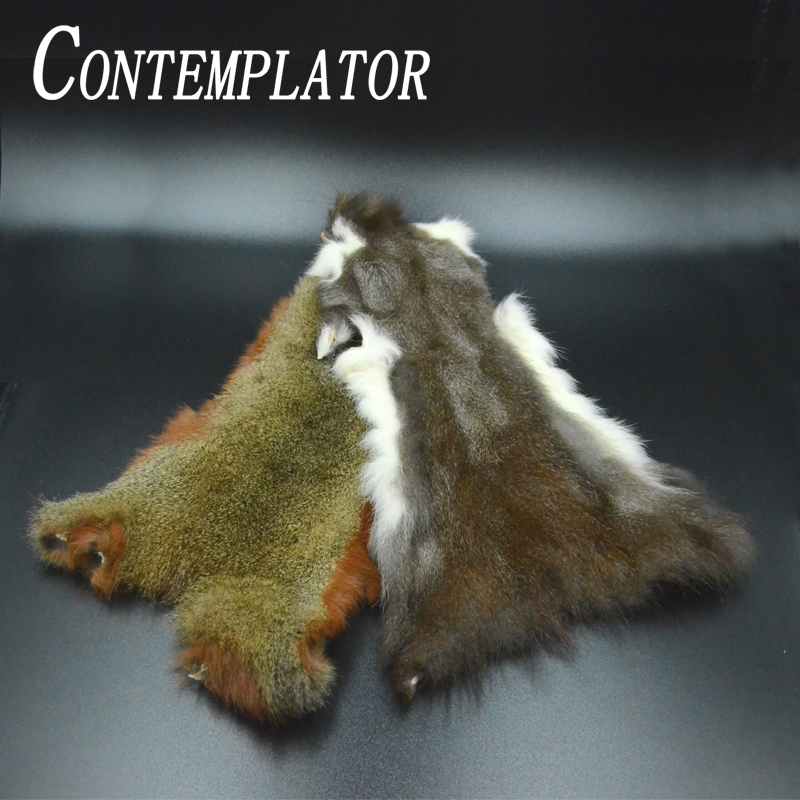 Fly fishing whole pine squirrel skin natural thick hair zonker strip nymphs 2styles soft squirre fur fly tying dubbing materials