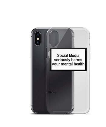 Social Media seriously harms your mental health phone case for iPhone X XR XS MAX 8 7 6 6s plus Soft Silicone Back Cover Capa