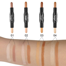 Double-ended Contour Popfeel Concealer Hide Blemish Dark Circle Cream Concealer Base Cream Contouring Camouflage Cosmetics Found(China)