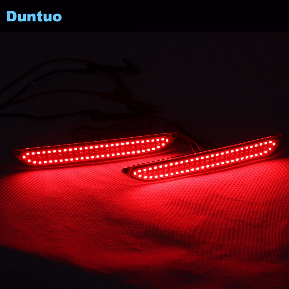 Car LED Rear Bunper Warning Lights Car Turn Signal Light Running Lamp Turn Light For Ford Mustang 2010-2018 - One Pair led rear bumper warning lights car brake lamp cob running light led turn light for honda civic 2016 one pair