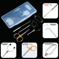 5Pcs Set Well Made Fly Tying Tool Kit Whip Finisher Dubbing Needle Bobbins Fly Tying Fishing