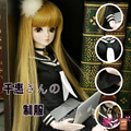 Free shipping 3pcs/lot bjd Clothes+skirt+white long straight wig hair doll accessories for 1/3 bjd doll sd bjd accessories diy