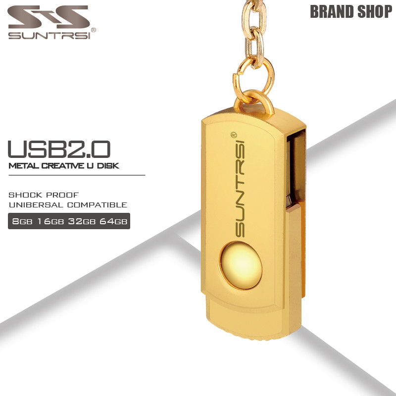 Suntrsi Pendrive 64GB Metal Key Chain USB Flash Drive 64GB Custom Logo Pen Drive High Speed USB Stick Real Capacity USB Flash usb flash drive 64gb elari smartdrive usb 3 0