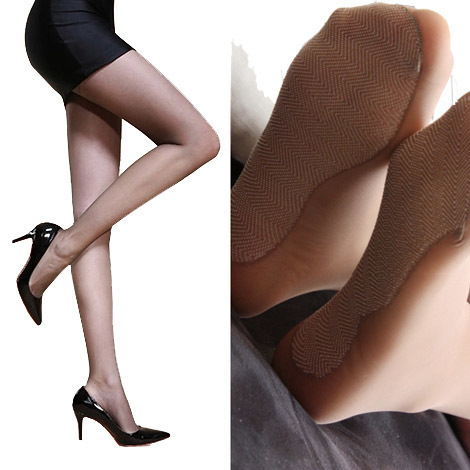 Envío gratis [amor] pie de seda medias 10D absorbente antideslizante modelos femeninos sección delgada Seamless T entrepierna pantimedias niño verano