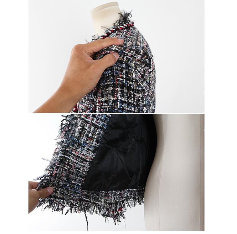 Court Vestes Pardessus Mode Slim Tweed Color Dames Cou Automne V Et Femmes Mince De Glands Hiver Manteaux Laine Pour 2017 Picture 5qYqxa8X