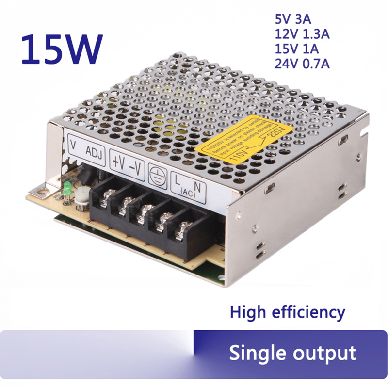 15W single output high efficiency industrial switch power supply ac dc 12 volt power supply 5V 12V 15V 24V блок питания ibm 550w high efficiency platinum ac power supply 00fm023